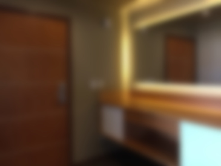 DEPARTAMENTOS VILLA HUAPI - DINA HUAPI: Pasillos, vestíbulos y escaleras  de estilo  por INTEGRAR DISEÑO