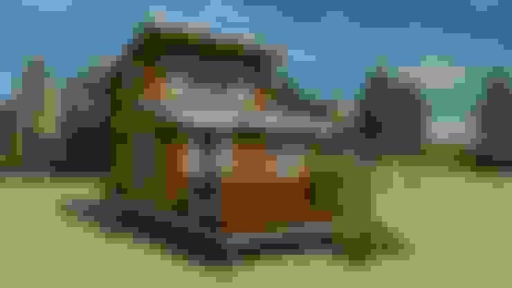 卡拉卡斯 挑高獨棟套房式木屋:  房子 by 金城堡股份有限公司