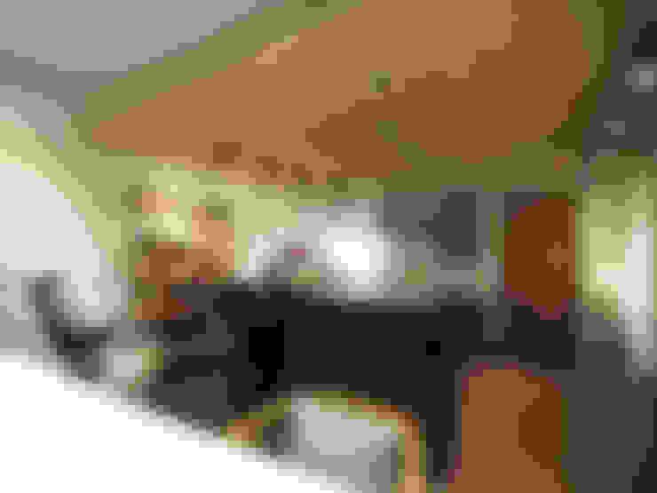 【商空設計案】青田中室內制作:  客廳 by 青田中室內制作