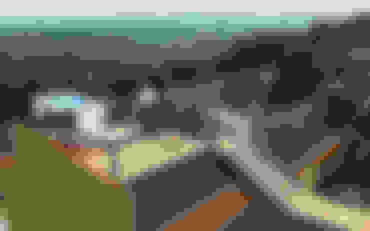 Proyecto Casa MV: Terrazas  de estilo  por Qarquitectura
