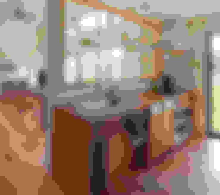 Kitchen by 株式会社 井川建築設計事務所