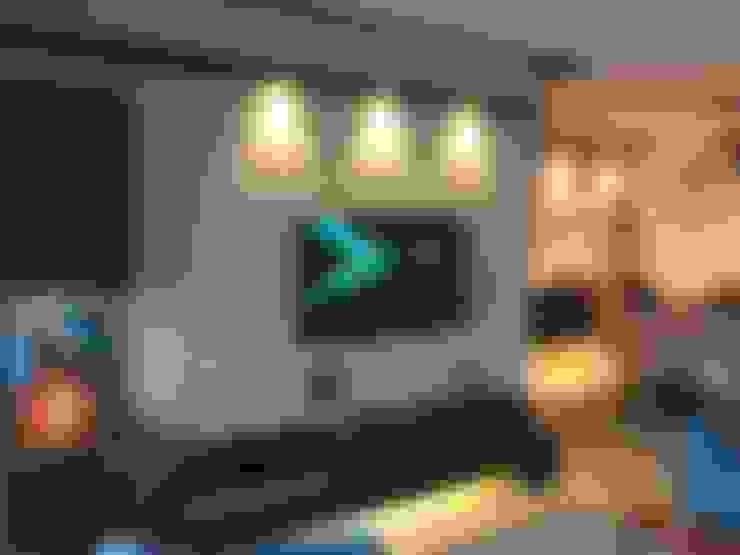 TV unit:  Living room by Vinayak Interior   Interior Designing and Decorator Companies