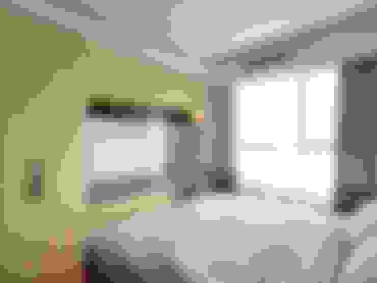 現代人文簡約風:  臥室 by 木皆空間設計
