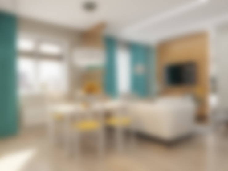 Salas de estar  por Гузалия Шамсутдинова | KUB STUDIO