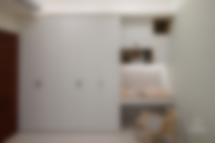 客房:  臥室 by 極簡室內設計 Simple Design Studio