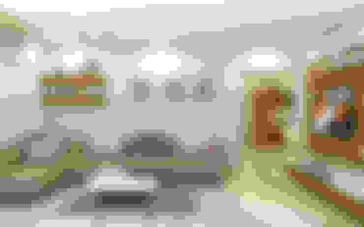 PROJECT @ GACHIBOWLI:  Living room by shree lalitha consultants