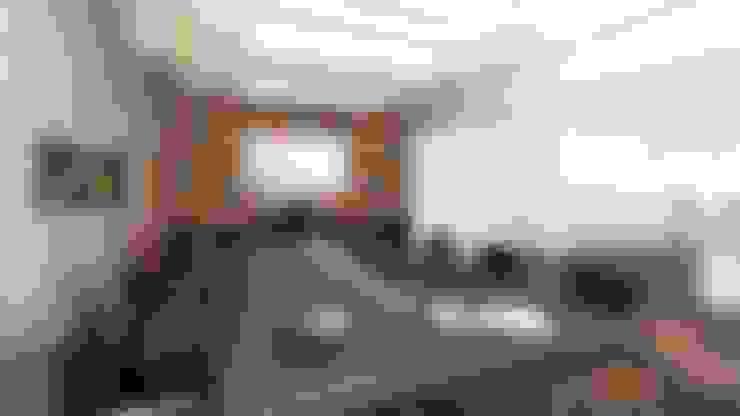 Directorio - Vista 3D: Oficinas y Tiendas de estilo  por Soluciones Técnicas y de Arquitectura