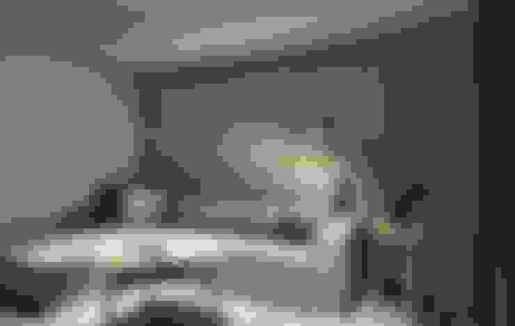 沙發背牆特殊漆:  客廳 by 禾光室內裝修設計 ─ Her Guang Design