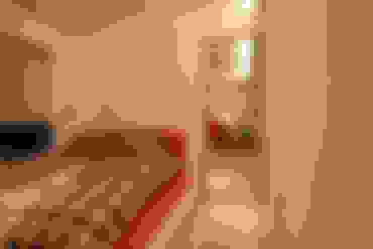 【住宅設計】淡水伊東市 – 26坪美式Loft風格:  臥室 by 大觀創境空間設計事務所