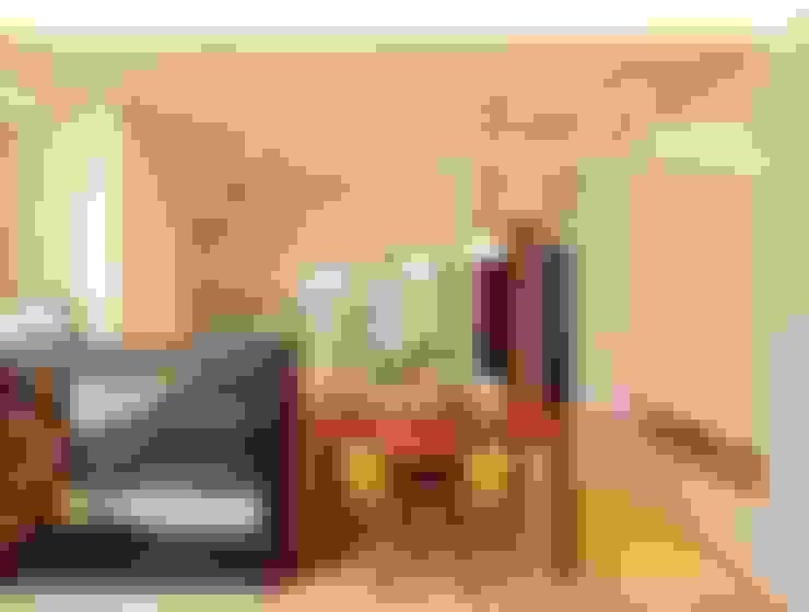 高雄 林公館:  客廳 by 築本國際設計有限公司