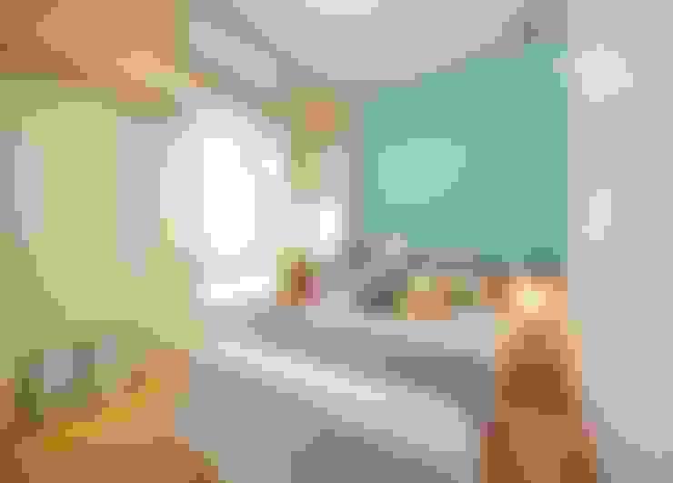 高雄 林公館:  臥室 by 築本國際設計有限公司
