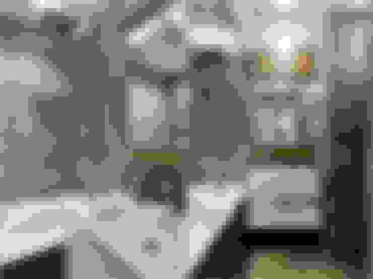 Малентькая квартира: Ванные комнаты в . Автор – Архитектурная студия Александры Спицыной