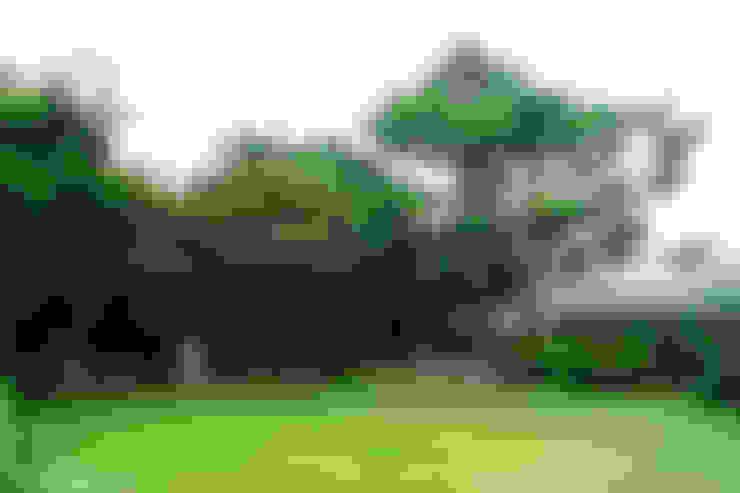 세종시 청벽마을 45평형 ALC친환경 리모델링: W-HOUSE의  바위 정원