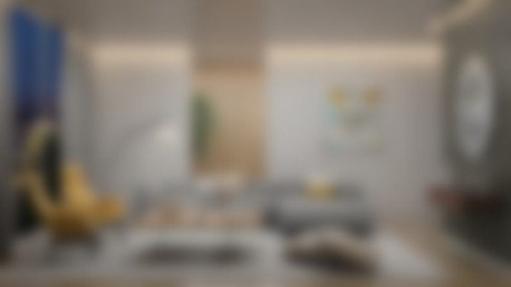 Sala / Living Room: Salas / recibidores de estilo  por Gabriela Afonso
