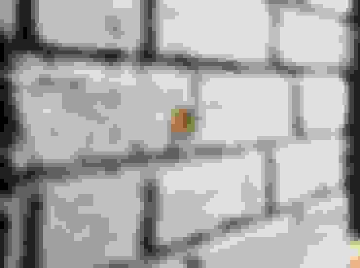 İSTANBUL TAŞÇI ® – Brüt Beton Grisi Antik Tuğla Kaplama:  tarz İç Dekorasyon