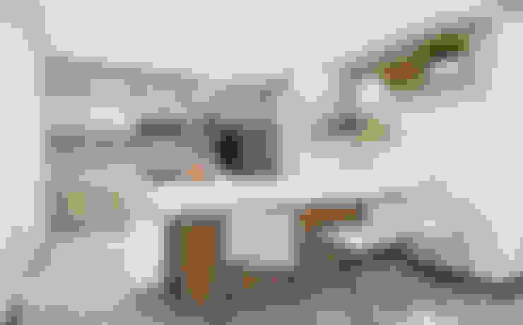 مطبخ ذو قطع مدمجة تنفيذ Minkarq. Arquitectura y construcción