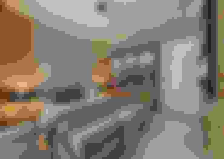 50GR Mimarlık – Cadde varlık_ 1+1 örnek daire:  tarz Yatak Odası