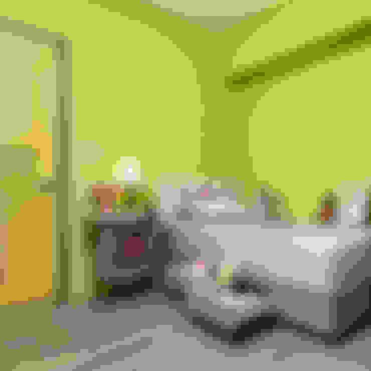 市區45年老屋華麗轉身 恬靜鄉村風:  嬰兒/兒童房 by 采荷設計(Color-Lotus Design)