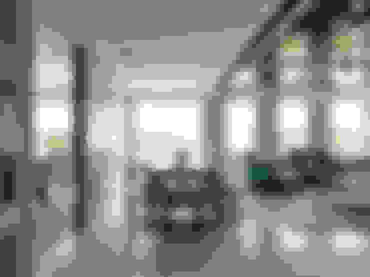 天母泳池別墅會所:  客廳 by ACE 空間制作所