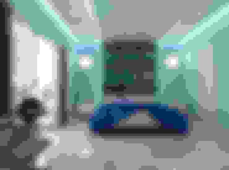Blue Room :  Bedroom by Constantin Design & Build