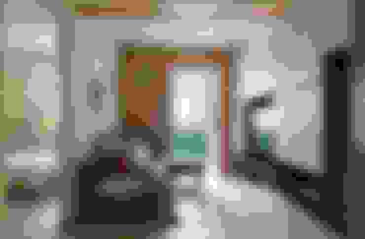 台北中和W宅:  客廳 by 勁懷設計