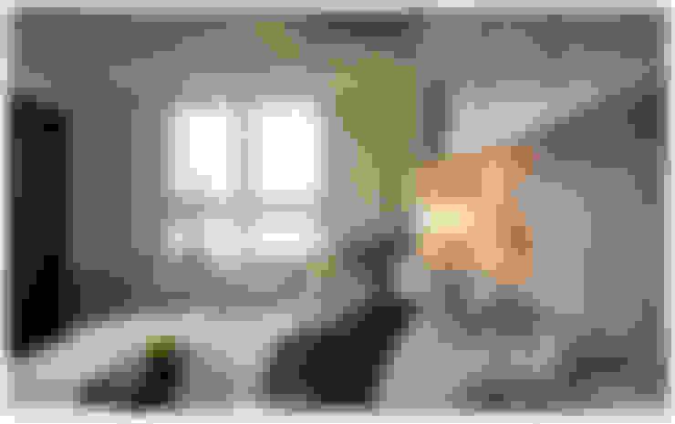 深白之悅:  臥室 by 北歐制作室內設計