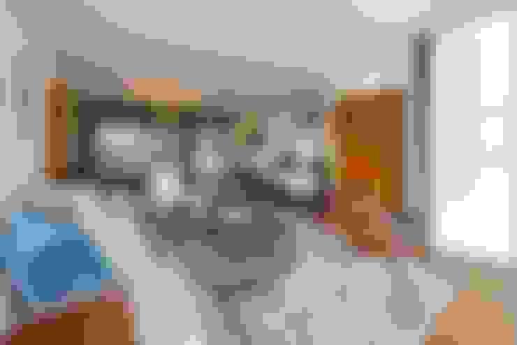 SALA Y COMEDOR: Salas / recibidores de estilo  por DMS Arquitectas
