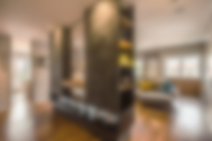 Salas / recibidores de estilo  por MOB ARCHITECTS