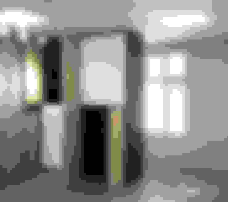 架高地板區 - 當通鋪使用:  地板 by 以恩設計