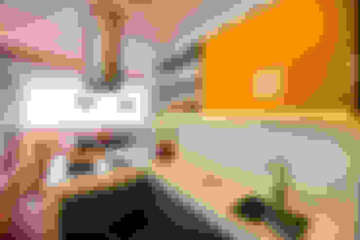 Área gourmet integrada: Cozinhas  por STUDIO CALI ARQUITETURA E DESIGN