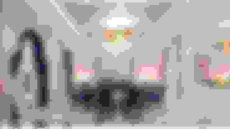 Interior desing of a formal dining room in Dubai house:  غرفة السفرة تنفيذ Spazio Interior Decoration LLC