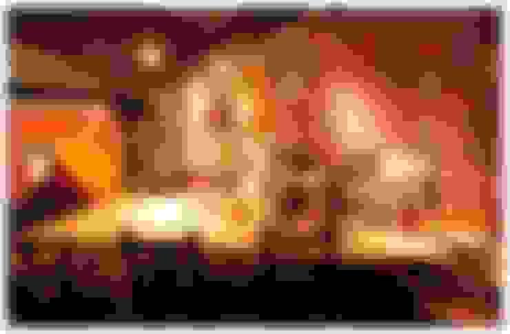 中島 餐桌 設計:  酒吧&夜店 by 艾莉森 空間設計
