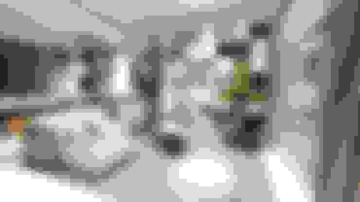 غرفة المعيشة تنفيذ LI A'ALAF ARCHITECT