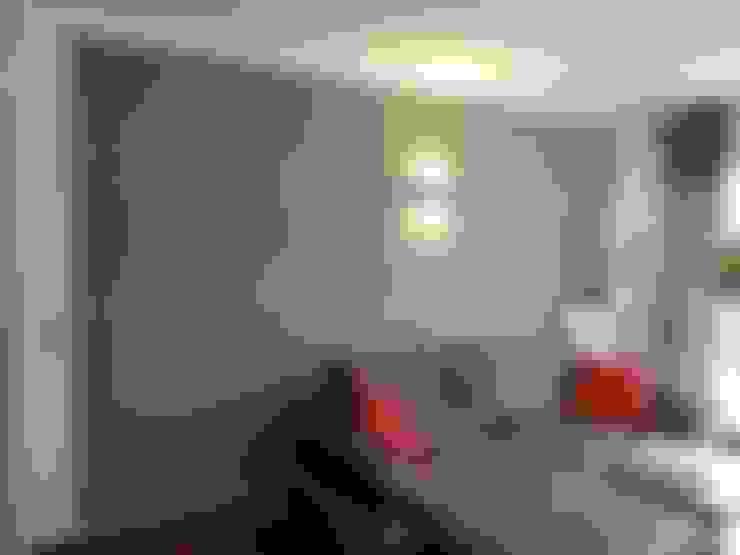 غرفة المعيشة تنفيذ Loft Design System Deutschland - Wandpaneele aus Bayern