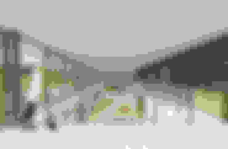 Imagen interior desde el segundo nivel: Livings de estilo  por D01 arquitectura