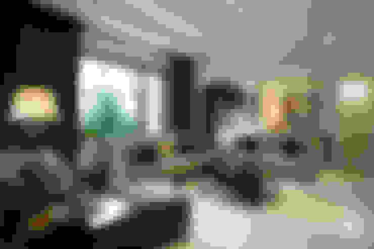 美式居家風格住宅:  客廳 by G.T. DESIGN 大楨室內裝修有限公司