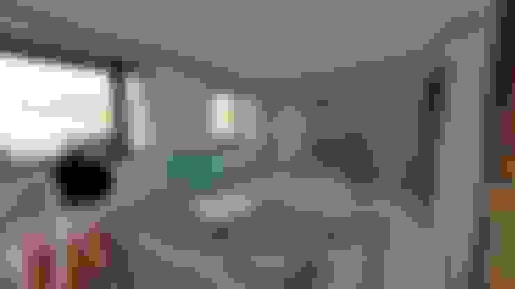 Dormitorio principal en suite: Dormitorios de estilo  por Ekeko arquitectura  - Coquimbo