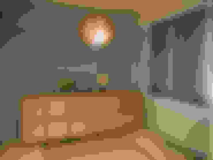 Salas multimedia de estilo  por 株式会社アートアーク一級建築士事務所
