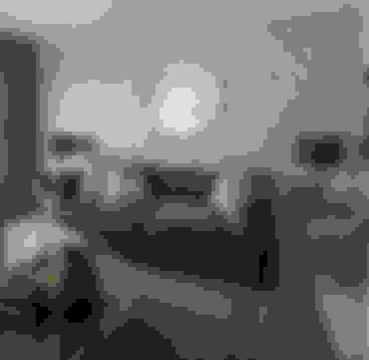 Salas / recibidores de estilo  por Spegash Interiors