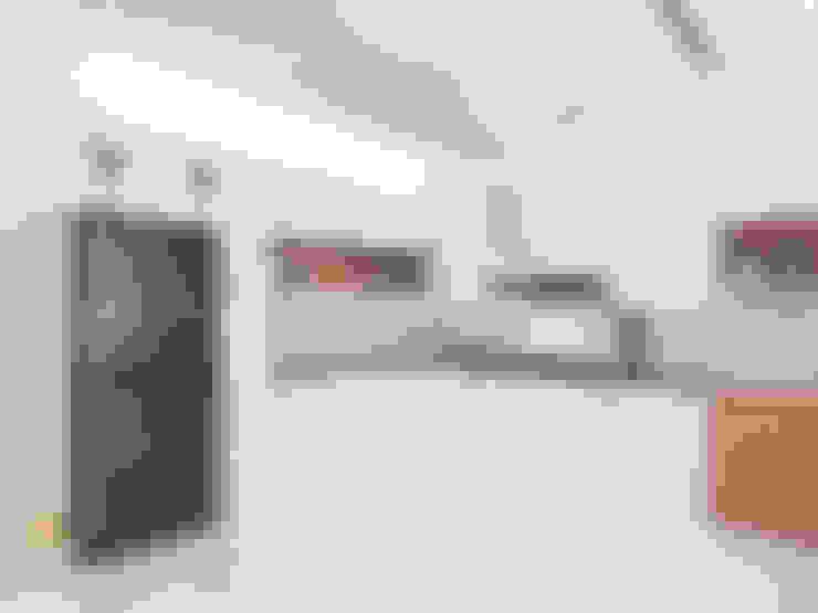 مطبخ ذو قطع مدمجة تنفيذ JRY Atelier
