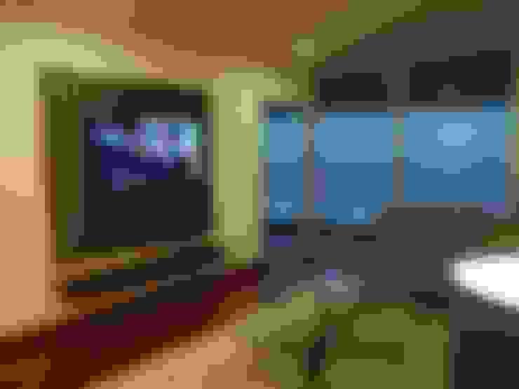 غرفة المعيشة تنفيذ Alicia Ibáñez Interior Design