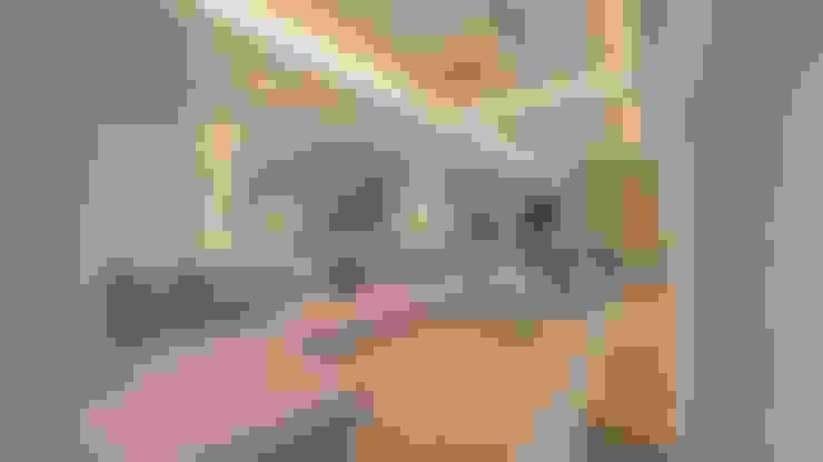 | PROYECTO SALA - COMEDOR | - Vista Sala: Salas de entretenimiento de estilo  por Giovanna Solano - DLuxy Muebles Design
