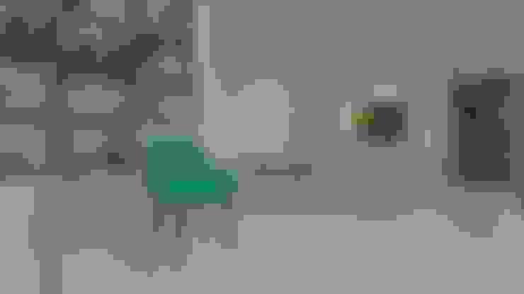   PROYECTO SALA - COMEDOR   - Vista Hall: Salas / recibidores de estilo  por Giovanna Solano - DLuxy Muebles Design