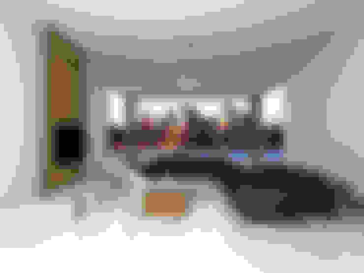 غرفة المعيشة تنفيذ SKY İç Mimarlık & Mimarlık Tasarım Stüdyosu
