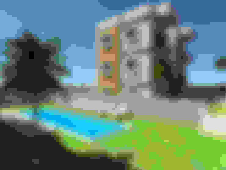 SKY İç Mimarlık & Mimarlık Tasarım Stüdyosu – Bodrum Apart Projesi:  tarz Apartman