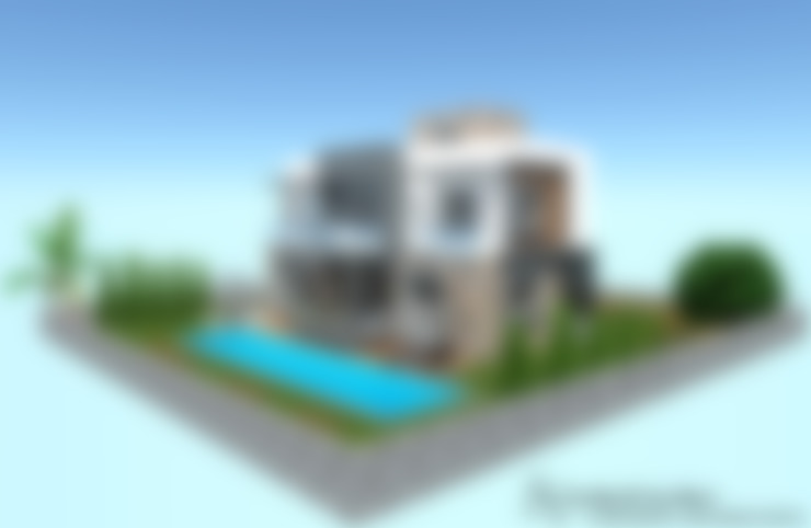 SKY İç Mimarlık & Mimarlık Tasarım Stüdyosu – Bodrum Villa Projesi:  tarz Villa