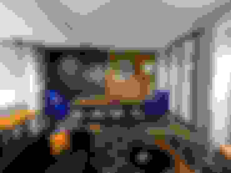 ห้องนั่งเล่น by AB DESIGN