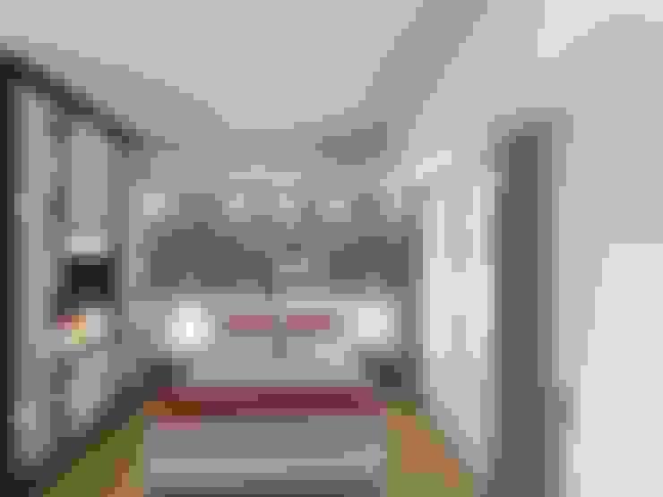 Habitaciones de estilo  por Arquimundo 3g - Diseño de Interiores - Ciudad de Buenos Aires