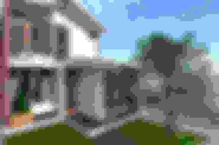 Fachada principal: Casas pequeñas de estilo  por ARDI Arquitectura y servicios