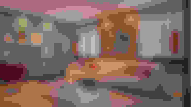 Wohnzimmer von 5CINQUE ARQUITETURA LTDA